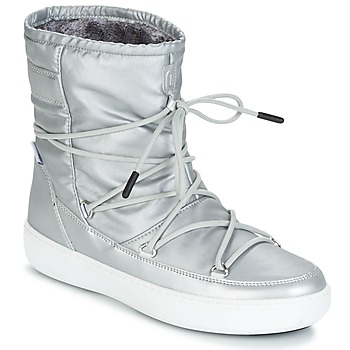 Shoes Women Mid boots Moon Boot MOON BOOT PULSE NYLON PLUS WP Silver