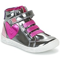 Shoes Girl High top trainers Agatha Ruiz de la Prada FLOW Silver