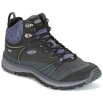 Shoes Women Hiking shoes Keen TERRAODORA PULSE MID WP Black