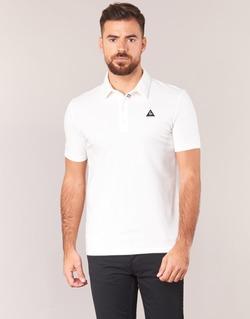 material Men short-sleeved polo shirts Le Coq Sportif LCS TECH POLO White