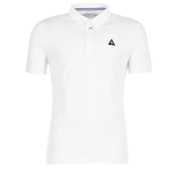 material Men short-sleeved polo shirts Le Coq Sportif LCS TECH POLO White