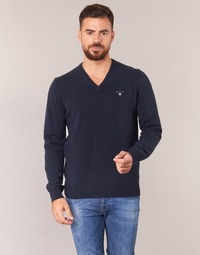 material Men jumpers Gant SUPER FINE LAMBSWOOL V-NECK Marine