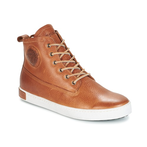 Shoes Men High top trainers Blackstone GM06 Brown