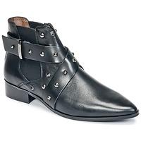 Shoes Women Mid boots Ikks LOW BOOTS BRIDGE ROCK Black
