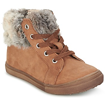 Shoes Girl Mid boots GBB ROBERTA Vts / Fauve / Dpf / Basket