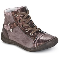 Shoes Girl Mid boots GBB ROMIE Pink / BORDEAUX
