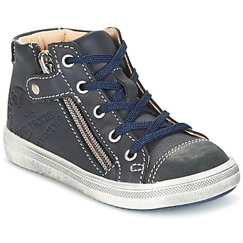 Shoes Boy Mid boots GBB NICO Vte / Marine / Dpf / 2835