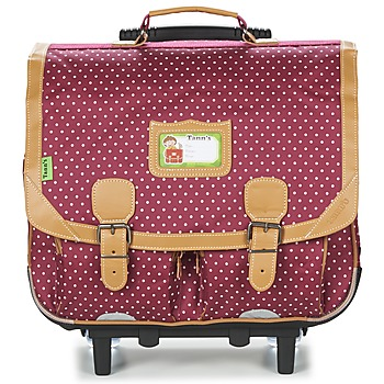 Bags Girl Rucksacks / Trolley bags Tann's LES CHICS FILLES CARTABLE TROLLEY 41CM Bordeaux