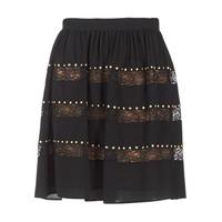 material Women Skirts MICHAEL Michael Kors HT/ LACE MIX Black