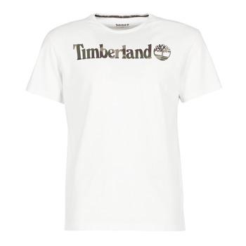 material Men short-sleeved t-shirts Timberland DUNSTAN RIVER CAMO PRINT White
