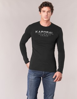 material Men Long sleeved shirts Kaporal PONIO Black