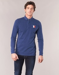 material Men long-sleeved polo shirts Serge Blanco POCHON Marine