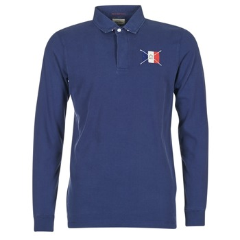 material Men long-sleeved polo shirts Serge Blanco POCHON MARINE