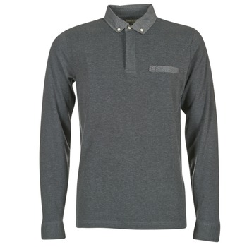 material Men long-sleeved polo shirts Serge Blanco POCHA Black / Grey