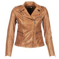 material Women Leather jackets / Imitation le Naf Naf CUBA Brown