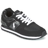 Shoes Men Low top trainers Ralph Lauren SLATON PONY Black