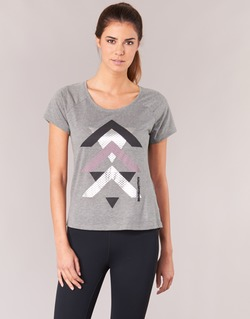 material Women short-sleeved t-shirts Only Play LINDA Grey