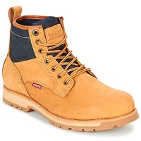 Shoes Men Mid boots Levi's LOGAN Yellow