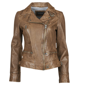 material Women Leather jackets / Imitation le Oakwood VIDEO Cognac