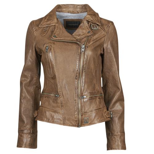 material Women Leather jackets / Imitation le Oakwood VIDEO Cognac