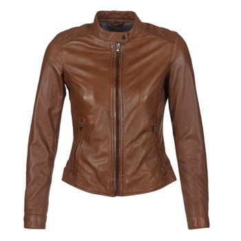 material Women Leather jackets / Imitation le Oakwood 62578 Camel