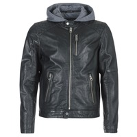 material Men Leather jackets / Imitation le Oakwood 62579 Black