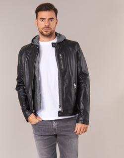 material Men Leather jackets / Imitation le Oakwood 62579 Black