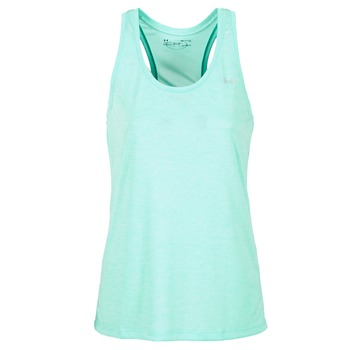 material Women Tops / Sleeveless T-shirts Under Armour TECH TANK - SOLID Green