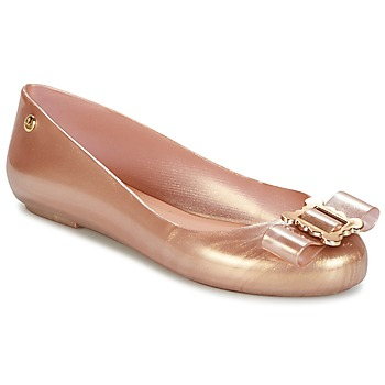 Shoes Women Ballerinas Melissa VW SPACE LOVE 18 ROSE GOLD BUCKLE Pink / Gold