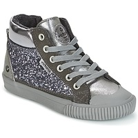 Shoes Girl High top trainers Victoria BOTA PIEL PU/GLITTER Silver