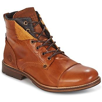 Shoes Men Mid boots Bullboxer BEN COGNAC