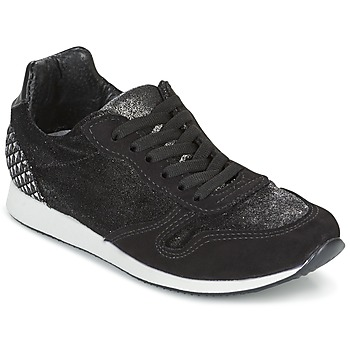 Shoes Women Low top trainers Ippon Vintage RUN VELVET Black