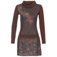 material Women Short Dresses Smash NANCY Brown