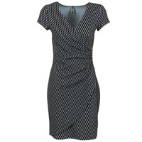 material Women Short Dresses Smash AVELINA Black