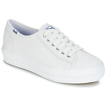 Shoes Women Low top trainers Keds TRIPLE KICK CORE LEATHER White
