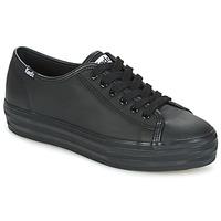 Shoes Women Low top trainers Keds TRIPLE KICK CORE LEATHER Black