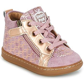 Shoes Girl High top trainers Shoo Pom BOUBA BI ZIP Pink / Coppery