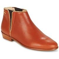 Shoes Women Mid boots M. Moustache JEANNE.B COGNAC / Gold