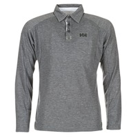 material Men long-sleeved polo shirts Helly Hansen HP SHORE Grey