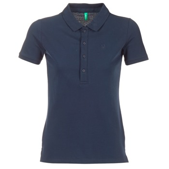 material Women short-sleeved polo shirts Benetton MAJOU MARINE