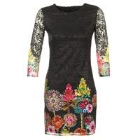 material Women Short Dresses Desigual GRAFI Black