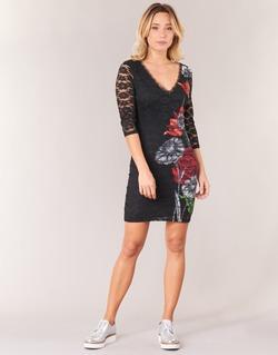 material Women Short Dresses Desigual GRAFE Black