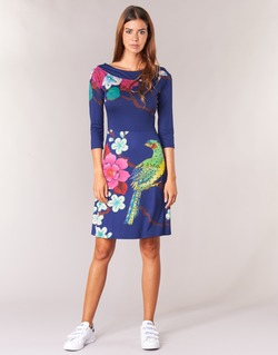 material Women Short Dresses Desigual MARTA Blue