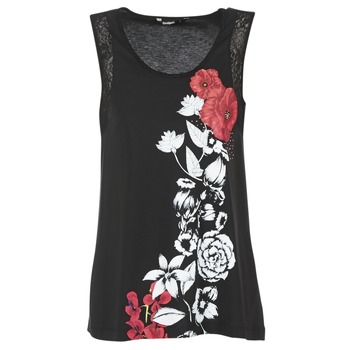 material Women Tops / Sleeveless T-shirts Desigual MAGEIS Black