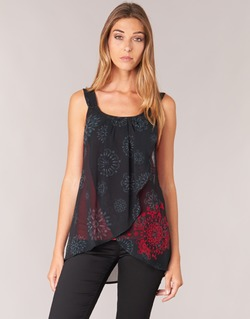 material Women Tops / Sleeveless T-shirts Desigual MEGEC Black / Red