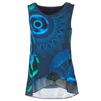 material Women Tops / Sleeveless T-shirts Desigual TAMAC Blue