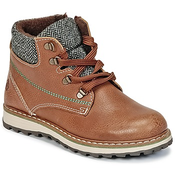 Shoes Boy Mid boots Citrouille et Compagnie HEFINETTE Brown