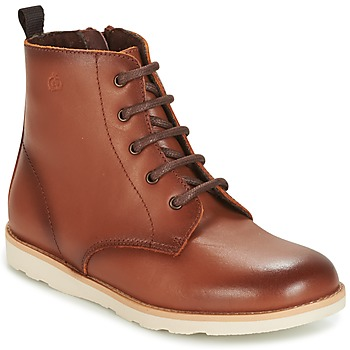 Shoes Children Mid boots Citrouille et Compagnie HATINE Brown