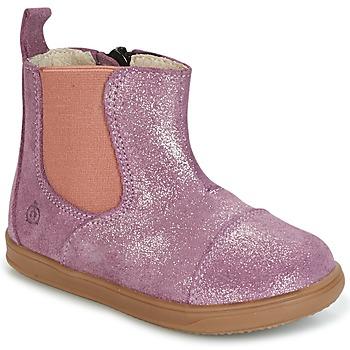 Shoes Girl Mid boots Citrouille et Compagnie HUETTE Pink