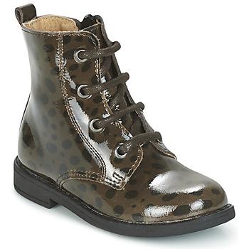 Shoes Girl Mid boots Citrouille et Compagnie HEMANU Black / Brown